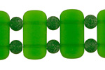 Emerald Recycled Glass 2-Hole Pillow 18x20mm