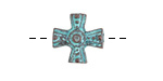 Greek Copper (plated) Patina Rosary Center Celtic Cross 15mm