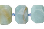 Amazonite Faceted Flat Slab 14-17x20-24mm