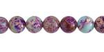 Purple & Turquoise Impression Jasper Round 8mm