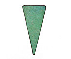 Lillypilly Lime Green Leather Triangle Tag 17x36mm
