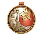 Patricia Healey Copper Moon & Star Pendant 35x39mm