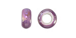 Lilac Large Hole Ceramic Rondelle 12-13mm
