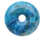 Larimar Blue Crazy Lace Agate Donut 40mm