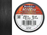 """WildFire Black .008"""" Thread, 20 yd"""