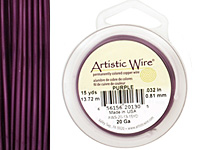 Artistic Wire Purple 20 gauge, 15 yards