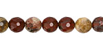 Apple Jasper Faceted Round 8mm
