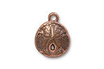 TierraCast Antique Copper (plated) Sand Dollar Charm 16x21mm