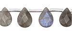 Labradorite Faceted Flat Teardrop 10x14mm