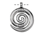 Zola Elements Antique Silver (plated) Zulu Pendant 29x34mm