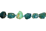 Chrysocolla Faceted Nugget 5-10x7-13mm