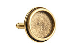 Nunn Design Antique Gold (plated) Traditional Circle Bezel Cuff Link 22mm
