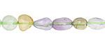 Multi Stone (amethyst, prehnite, citrine) Tumbled Nugget 5-10x5-8mm