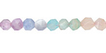 Multi Gemstone (Aquamarine, Amethyst, Amazonite, Morganite, Moonstone) Star Cut Round 6mm