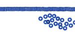 African Trade Cornflower Blue Vinyl/Vulcanite Heishi 3mm