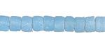 African Aqua Sand Cast Powder Glass (Krobo) Heishi Bead 5x8mm
