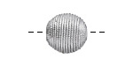 Metallic Silver Thread Wrapped Bead 14mm
