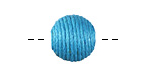 Sky Blue Thread Wrapped Bead 14mm