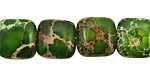 Green Impression Jasper Puff Square 12mm