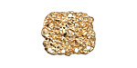 Zola Elements Matte Gold (plated) Nugget Focal 19x16mm