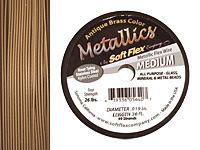 "Soft Flex Antique Brass .019"" (Medium) 49 Strand Wire 30ft."