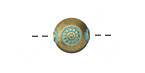 Zola Elements Patina Green Brass (plated) Pressed Sun Coin 11mm