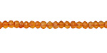 Carnelian (natural) Faceted Rondelle 4.5-5mm