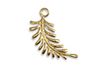 Vintaj Vogue Fern Curving Left Charm 22x28mm
