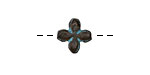Greek Copper (plated) Patina Little Flower 13mm
