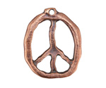 Greek Bronze (plated) Peace Sign Pendant 27x34mm