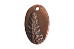 Nunn Design Antique Copper (plated) Redwood Charm 13.5x21.5mm