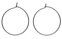 Gunmetal (plated) Hoop Earwire 30mm