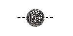 Jet Hematite Pave (w/ Preciosa Crystals) Round 12mm