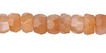 Peach Moonstone Faceted Wheel 5-8x9-11mm