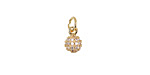 Clear Pave CZ Gold (plated) Stainless Steel Orb Charm 6x12mm