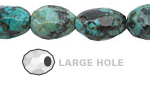 African Turquoise Faceted Nugget (Large Hole) 14-16x10-12mm