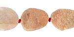 Peach Moonstone (matte) Rough Face Freeform Flat Oval 20-26x15-20mm