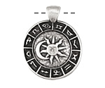 Greek Pewter Zodiac Pendant 27x34mm