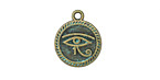 Patina Green Brass (plated) Third Eye 15x18mm