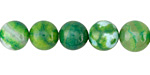 Parrot Green Fire Agate Round 10mm