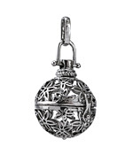 Antique Rhodium (plated) Starflower Diffuser Locket 24x47mm