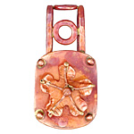 Patricia Healey Copper Groovy Flower 20mm Cord Slide 24x46mm