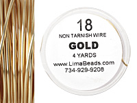 Parawire Non-Tarnish Gold 18 gauge, 4 yards