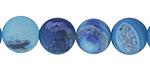 Aqua Blue Line Agate (matte) Round 12mm
