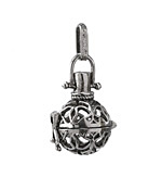Antique Rhodium (plated) Ironwork Diffuser Locket 18x42mm
