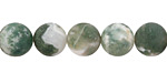 Tree Agate (A) Matte Round 10mm