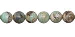 Arctic Terra Agate Round 8-9mm