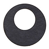 Lillypilly Black Leather Large Open Round 50mm
