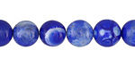 Cobalt Fire Agate Round 10mm