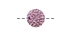 Lilac Pave Round 12mm (1.5mm hole)